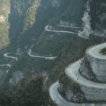 Beautiful and scary 99 Bending Road in Tianmen Mountain- Zhangjiajie, China