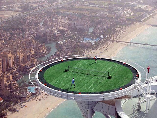 World's highest tennis court