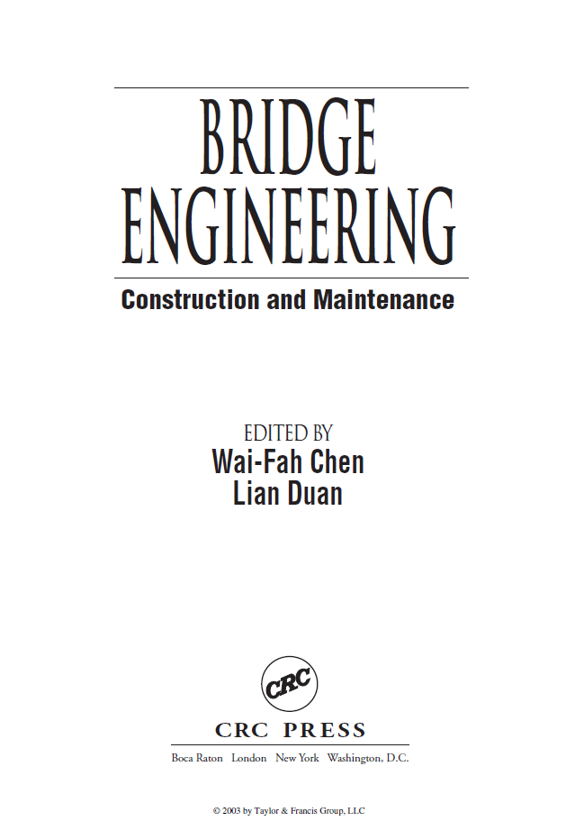 Bridge Engineering : Construction and Maintenance
