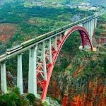 Beipanjiang River Railway Bridge is the world's highest railway bridge