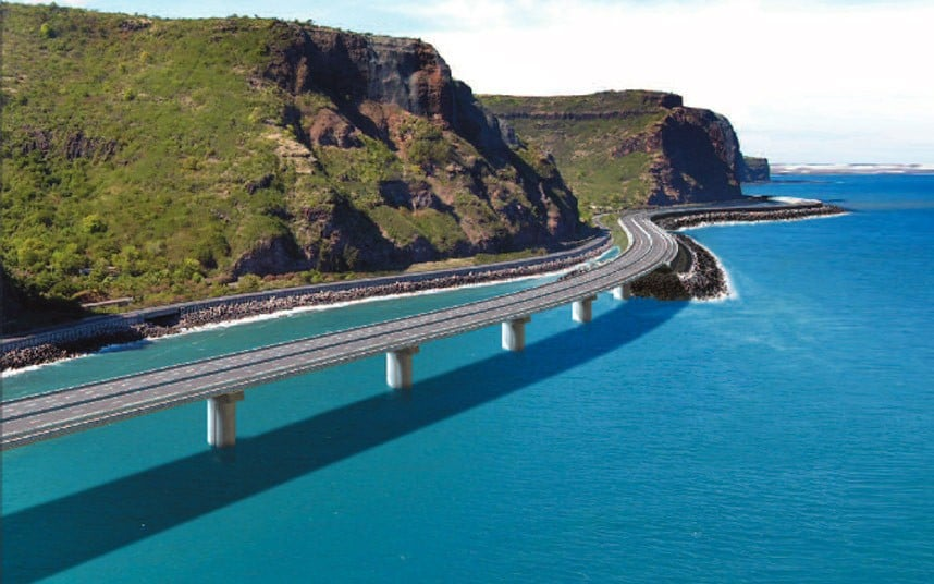 New coastal highway route for Reunion