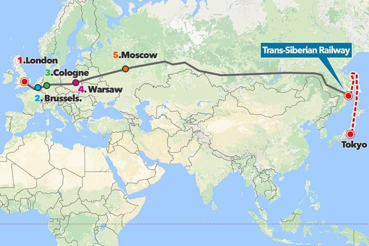 Russia-Japan railway bridge would let you travel from London to Tokyo
