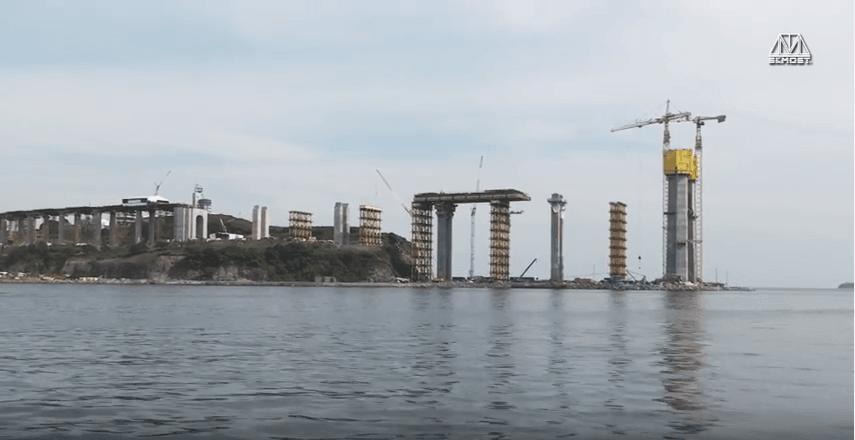 Bridge to Russky Island in Vladivostok