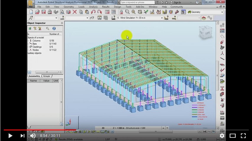 Autodesk Robot Structural Analysis 2017 Factory Steel Structure Design