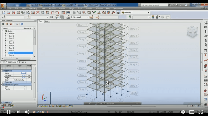 Autodesk Robot Structural Analysis – Reinforced Concrete Building