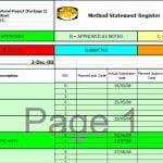 Method Statement Template for Civil Work
