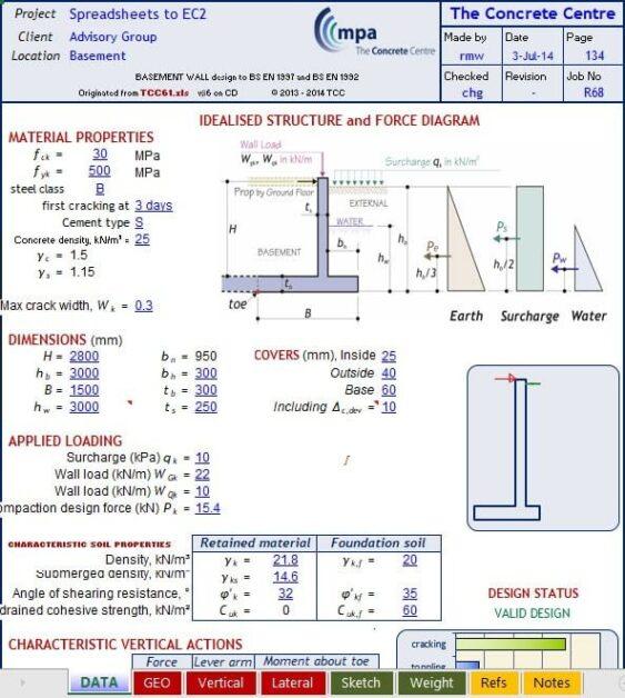 Excel Sheet to Design Flat Slab