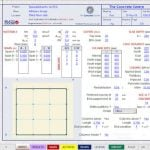 Excel Sheet to Design Flat Slab According to Eurocode