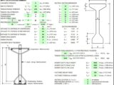Prestressed Concrete Girder Design for Bridge Structure spreadsheet