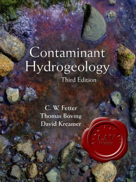 Contaminant Hydrogeology 3-rd Edition