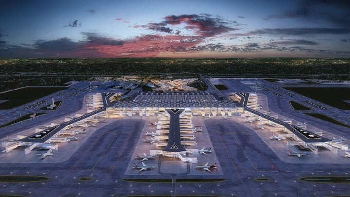 The new airport at the crossroads of Europe and Asia that's vying to be the world's largest