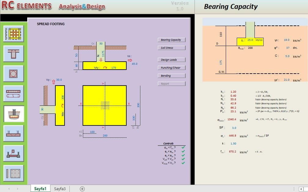 RC Element Analysis and Design Program