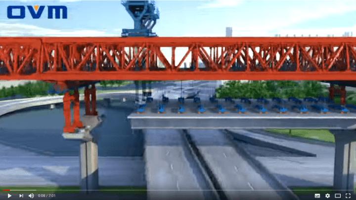 Segmental Bridges Construction 3D Animation