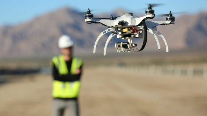 Can drones be utilized in construction for creating accurate BIM models?