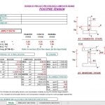 Design of Precast Prestressed Composite Beams Excel Sheet
