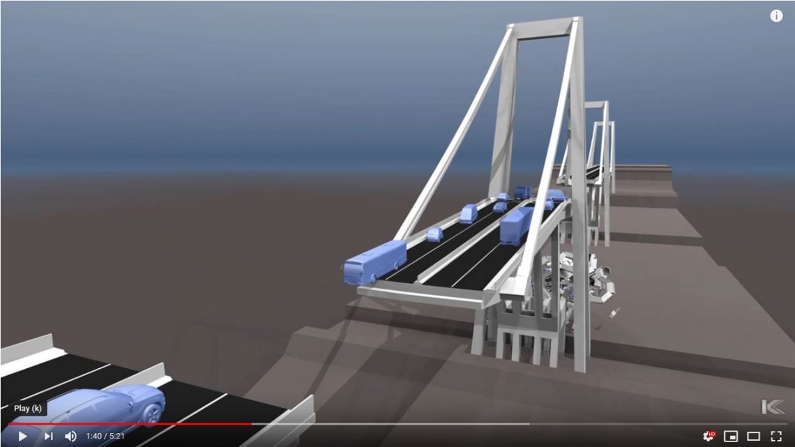 Morandi Bridge Collapse Simulation Genoa 2018