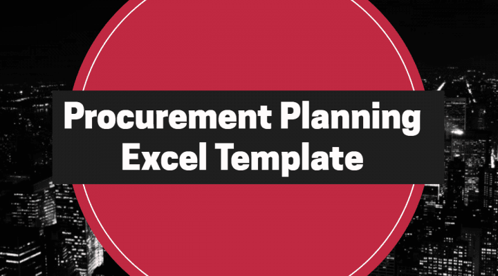 Procurement Planning Excel Template