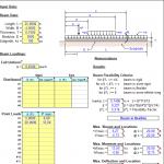 Beam on Elastic Foundation Analysis Sheet