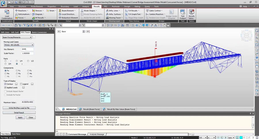 Analysis for the Assessment of Iconic Steel Structure- Connel Bridge (MIDAS Expert Engineer Webinar)