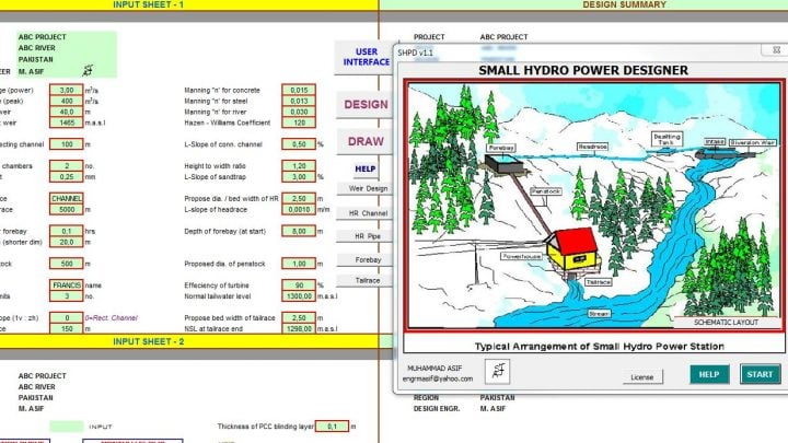 SMALL HYDRO POWER DESIGNER  v1.1
