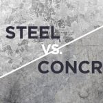 What is better steel or concrete?