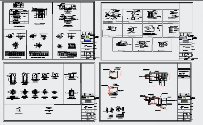 Water Tank Design dwg template