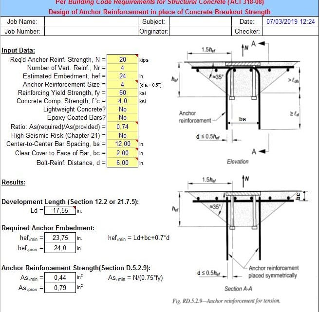 """ANCHOR REINF"" – ANCHOR REINFORCEMENT ANALYSIS"