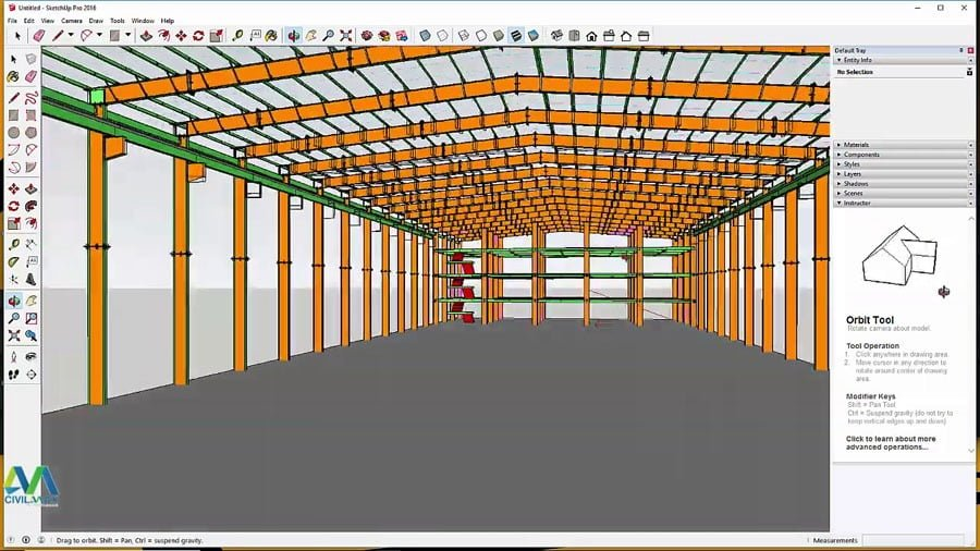 How to Export and Design Tekla Structures Project in Sketchup