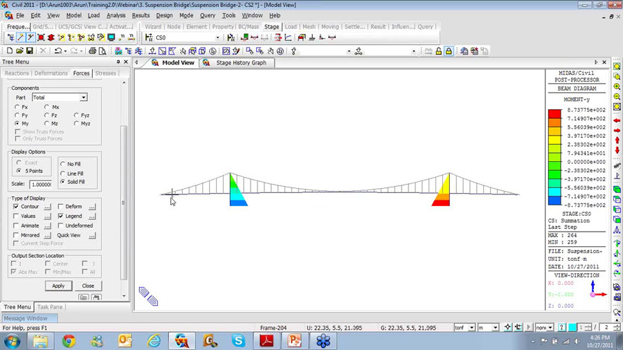 Suspension Bridge Design – Midas Civil Training