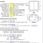 Wind loading analysis sheet