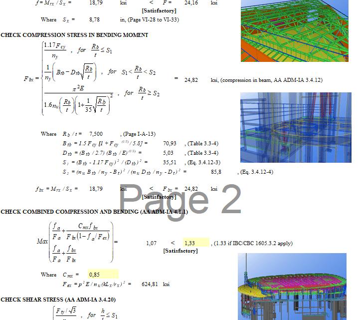 Aluminium design capacity spreadsheet