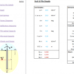 Axial and Lateral Load Piles Spreadsheet