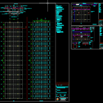 Bridge Cross Section and Beam Layout Free DWG