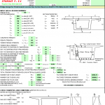 Bridge Design for Prestressed Concrete Spreadsheet