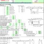 Bridge Design for Prestressed Concrete Spreadsheet