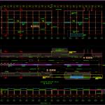 Bridge Floor Plan and cross section Detail Free DWG
