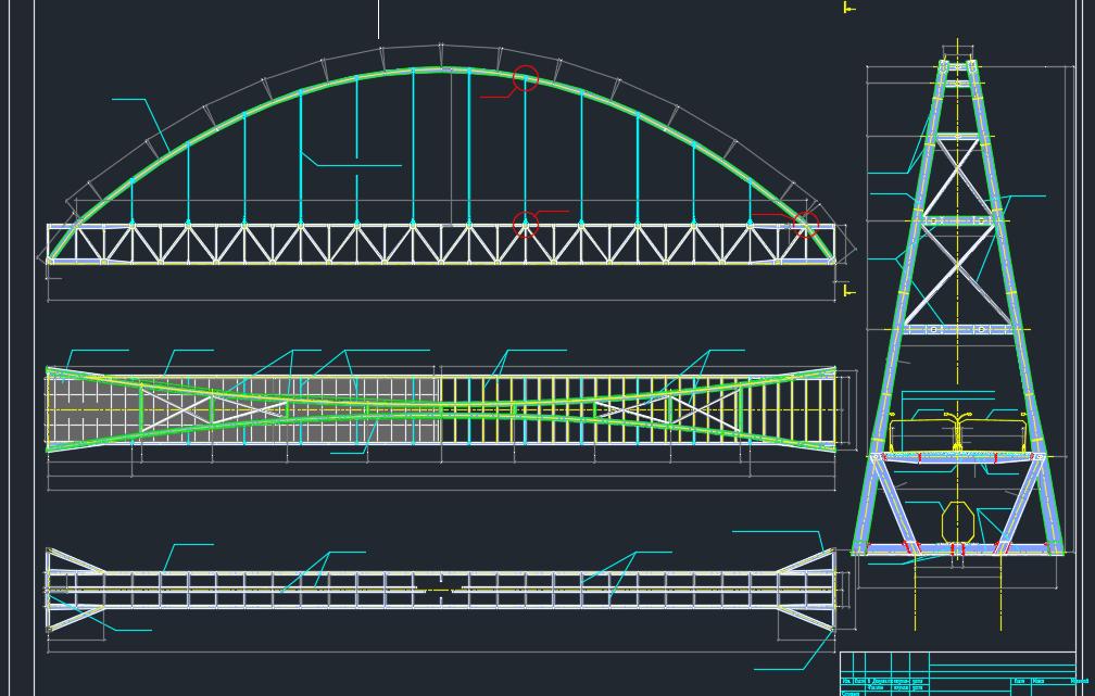 Bridge across a river free DWG