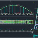 Bridge across a river free DWG