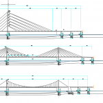 Cable-stayed Bridges free DWG