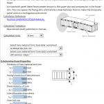 Light-weight Composite Beam Design Spreadsheet