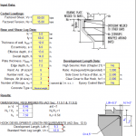 Corbel Analysis per ACI and IBC code spreadsheet