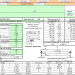 Crane Girder design Spreadsheet