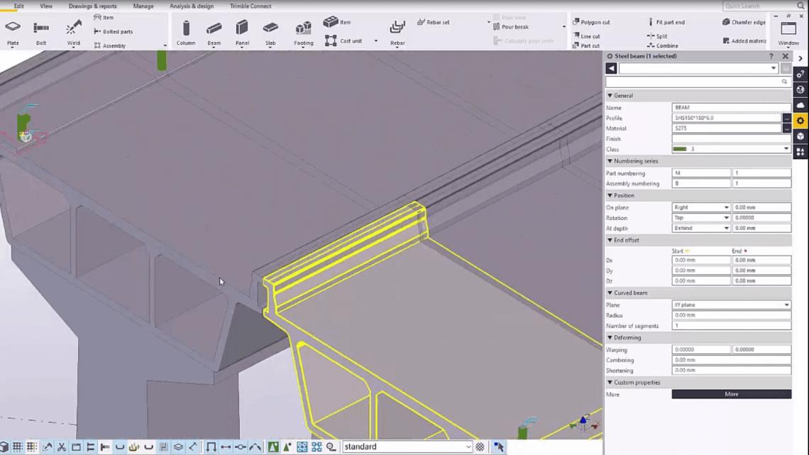 How to Create Bridge Guard Rails in Tekla Structures