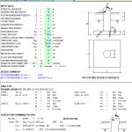 Deep Footing Design Spreadsheet