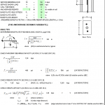 Design for Bending Post at Top of Wall Spreadsheet
