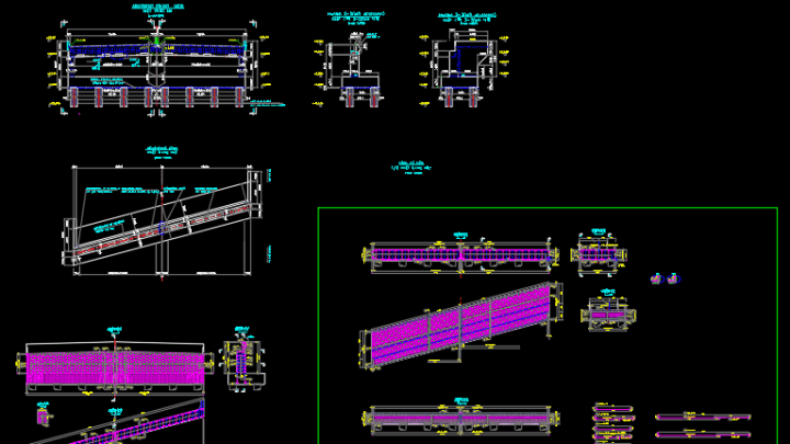 Detail of Abutment reinforcement Free DWG