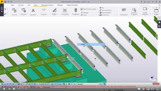 Foot Bridge Modelling in TEKLA STRUCTURES