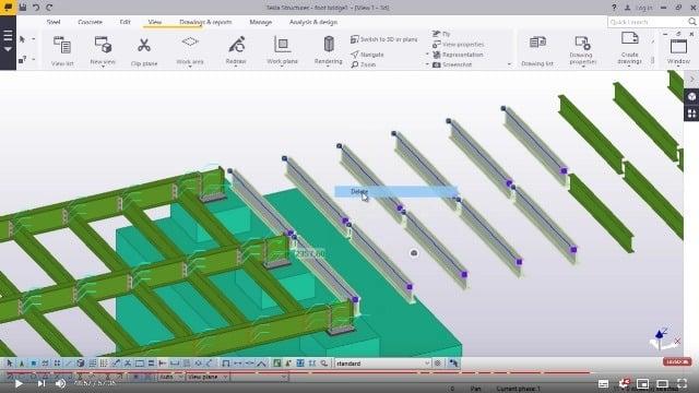 Foot Bridge Modelling in TEKLA STRUCTURES