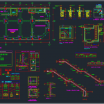 Foundations, staircase and beams details free dwg