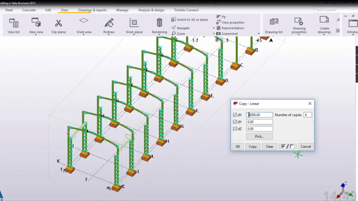 How to Create Industrial building in Tekla Structures